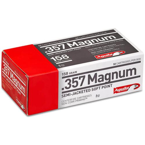 Aguila Handgun 357 Magnum, 158 gr, Semi-Jacketed Soft Point Ammunition