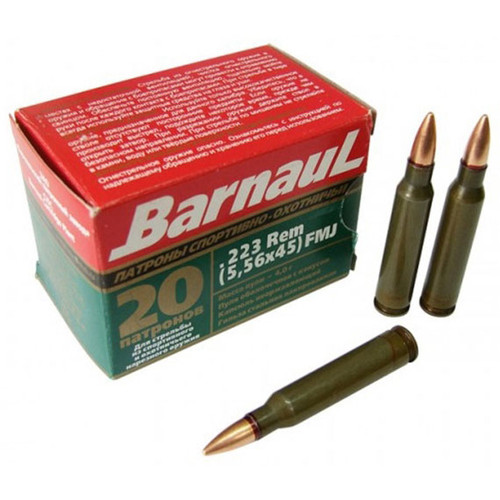 Barnaul Rifle 223 Rem, 62 gr, FMJ-BT Ammunition