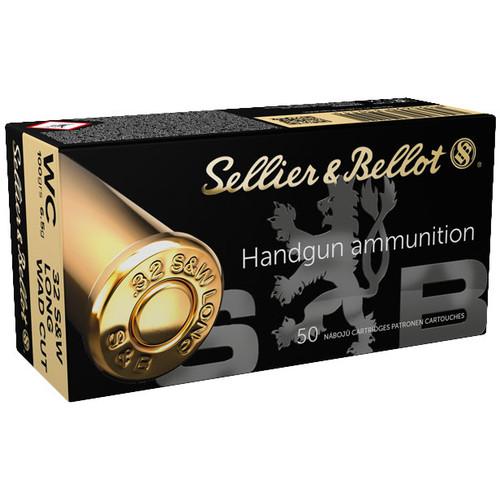 Sellier & Bellot Handgun 32 S&W Long, 100 gr, Wad Cutter Ammunition