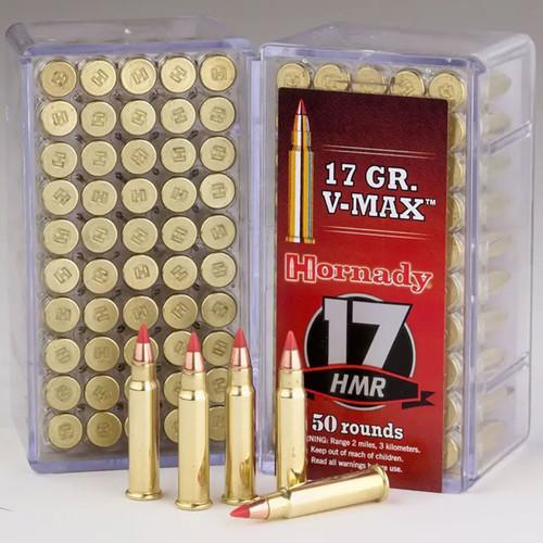 Hornady Varmint Express Rimfire 17 HMR, 17 Grain, V-MAX Rimfire Ammunition