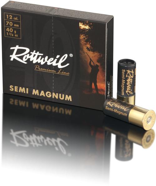 "Rottweil Premium Line Semi Magnum Ammunition - 12 Gauge, 2-3/4"", 1-3/8 oz, #3, 10 Rounds"
