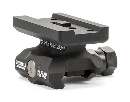 Geissele Super Precision Red Dot Optic Mount - Aimpoint T1, Absolute Co-Witness, Black