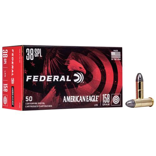 Federal American Eagle Handgun 38 Special, 158 gr, LRN Ammunition