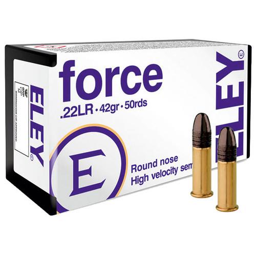 ELEY force 22 LR, 42 gr, Round Nose Rimfire Ammunition