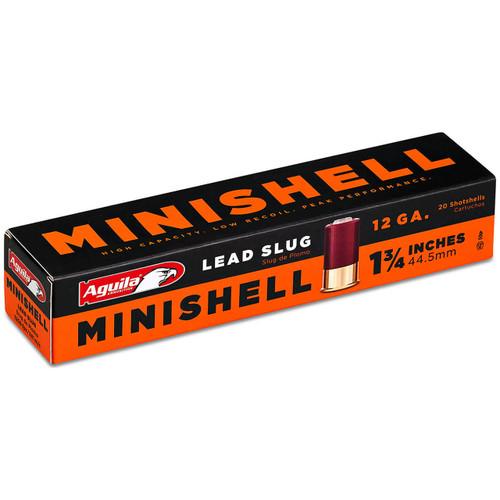 """Aguila Minishell 12 Gauge, 1-3/4"""", Slug Ammunition"""