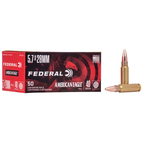 Federal American Eagle Handgun 5.7x28mm, 40 gr, FMJ Ammunition