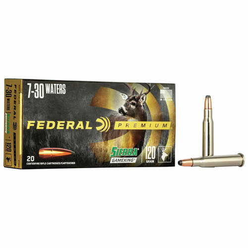 Federal Sierra GameKing 7-30 Waters, 120 gr, SGBTSP Ammunition