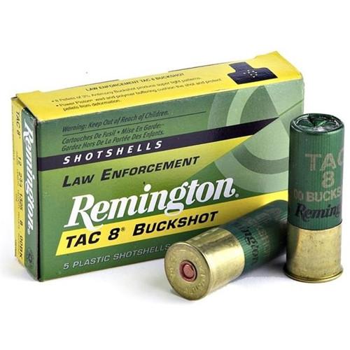 "Remington Law Enforcement Tac 8 Buckshot Ammunition - 12 Gauge, 2-3/4"", 1 oz, 00 Buckshot"