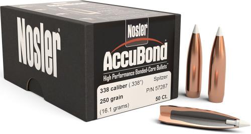 Nosler AccuBond Bullets - 338 Caliber, 250 Grain, 50 ct