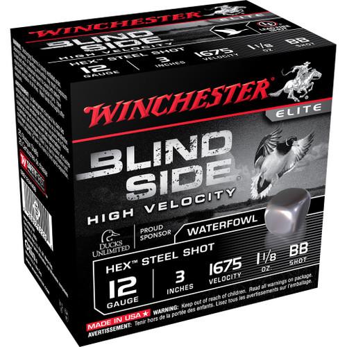 """Winchester Blind Side Ammunition - 12 Gauge, 3"""", 1-1/8 oz, BB, 25 Rounds"""