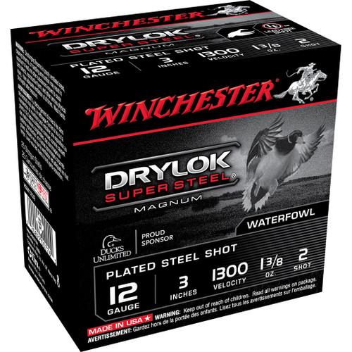 "Winchester DryLok Super Steel Ammunition - 12 Gauge, 3"", 1-3/8 oz, #2"
