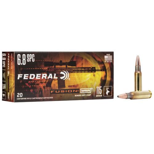 Federal Fusion MSR 6.8 SPC, 115 gr, FSP Ammunition