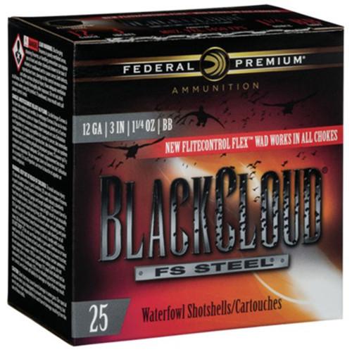 """Federal Black Cloud FS Steel, 12ga, 3"""", 1-1/4oz, BB, Shotshell Ammunition (25 rds)"""