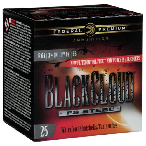 """Federal Black Cloud FS Steel, 12ga, 3-1/2"""", 1-1/2oz, BB, Shotshell Ammunition (25 rds)"""