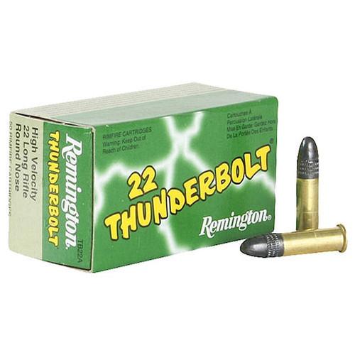 Remington 22 Thunderbolt 22 LR, 40 gr, Lead Round Nose Rimfire Ammunition