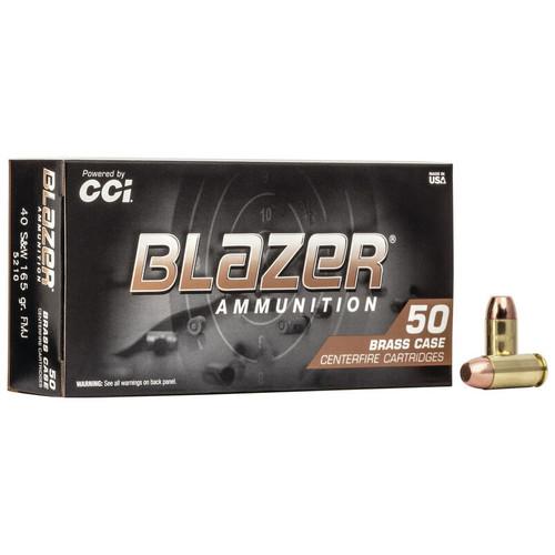 CCI Blazer Brass 40 S&W, 165 gr, FMJ Ammunition