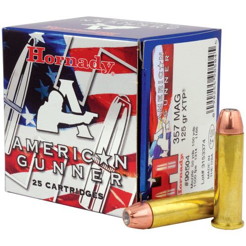 Hornady American Gunner 357 Mag, 125 gr, XTP Ammunition