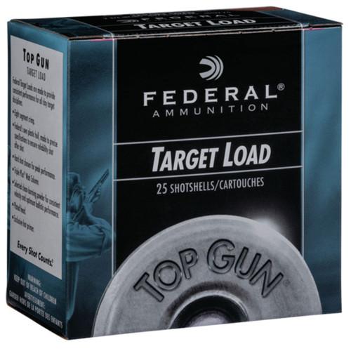 "Federal Top Gun Target Load, 12ga, 2-3/4"", 3 DE, 1 oz, #7.5, Shotshell Ammunition (250 rds)"