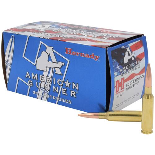 Hornady American Gunner 6.5 Creedmoor, 140 gr, BTHP Match Ammunition