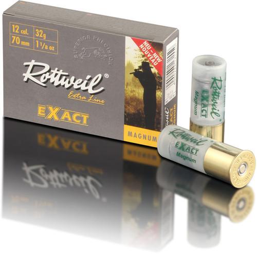 "Rottweil Extra Line Exact Magnum Ammunition - 12 Gauge, 3"", 1-1/8 oz, Rifled Slug, 5 Rounds"