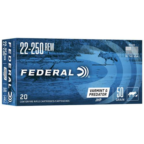 Federal American Eagle Varmint 22-250 Rem, 50 gr, JHP Ammunition