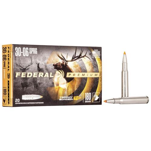 Federal Trophy Bonded Tip 30-06 Spr, 180 gr, TBT Ammunition