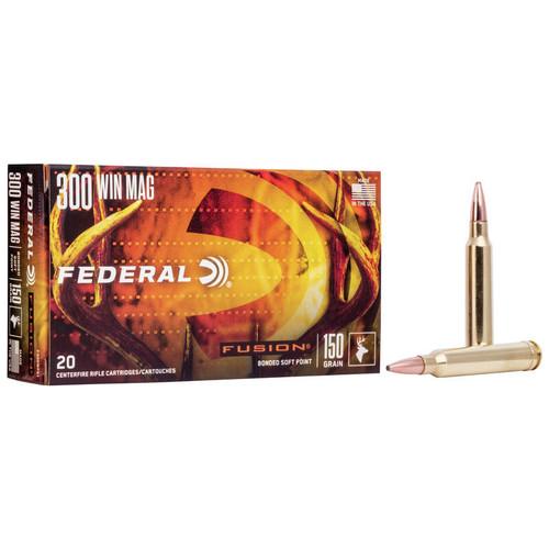 Federal Fusion Rifle 300 Win Mag, 150 gr, FSP Ammunition