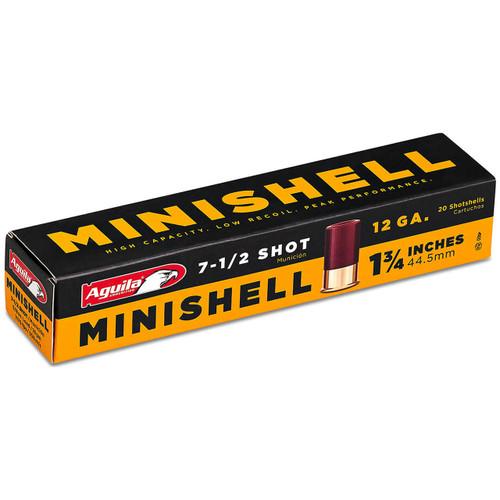 """Aguila Minishell 12 Gauge, 1-3/4"""", #7.5 Ammunition"""