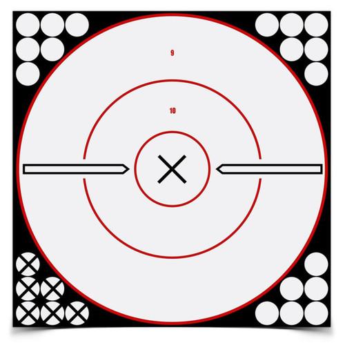 """Birchwood Casey Shoot•N•C Targets - 12"""" White / Black X Bull's-Eye"""