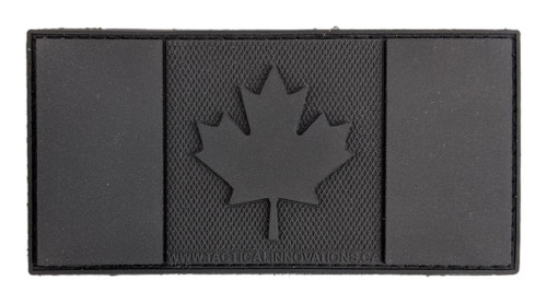 """TIC PVC Morale Patch - Canadian Flag, BlackOps, 2""""x4"""""""