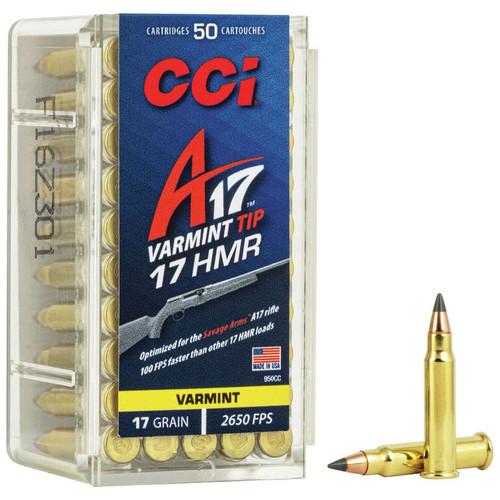 CCI A17 17 HMR, 17 gr, Varmint Tip Rimfire Ammunition