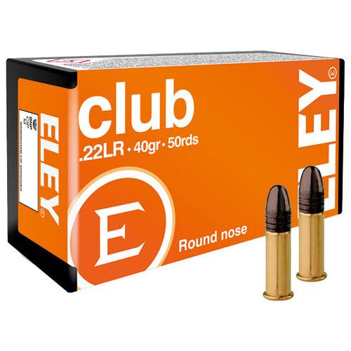 ELEY club  22 LR, 40 gr, Round Nose Rimfire Ammunition