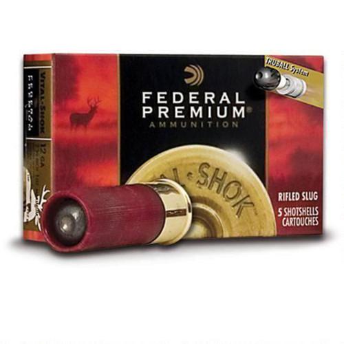 "Federal Vital•Shok, 12ga, 2-3/4"", 1 oz, Rifled Slug, Shotshell Ammunition (5 rds)"