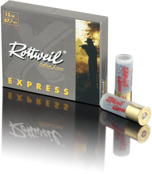 "Rottweil Extra Line Express Ammunition - 12 Gauge, 2-3/4"", 1 oz, 00, 9 Pellets, 10 Rounds"