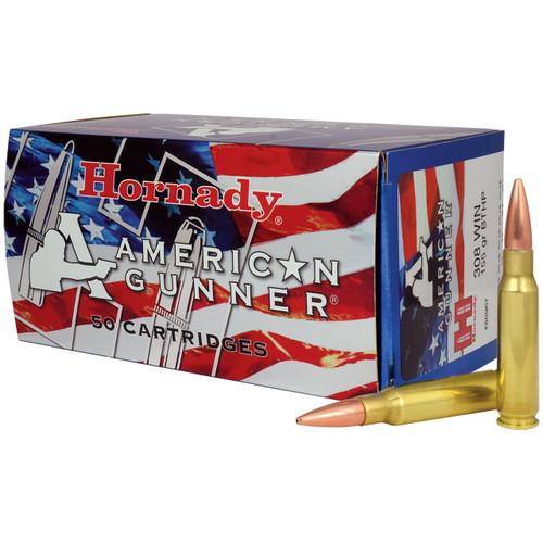 Hornady American Gunner 308 Win, 155 gr, BTHP Match Ammunition