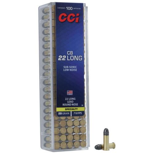 CCI CB 22 Long, 29 gr, Lead Round Nose Rimfire Ammunition