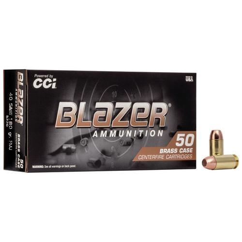 CCI Blazer Brass 40 S&W, 180 gr, FMJ Ammunition