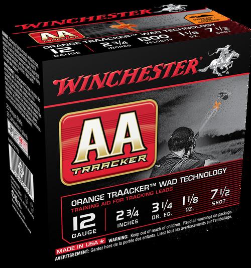 """Winchester AA TrAAcker Ammunition - 12 Gauge, 2-3/4"""", 1-1/8 oz, #7.5"""
