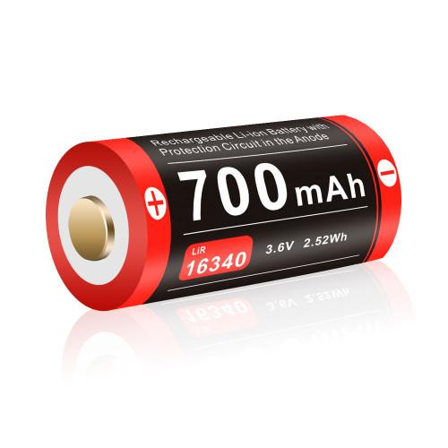 Klarus 16340UR70 - 16340 Li-ion Battery w/ Micro-USB Charging