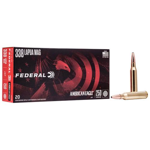 Federal American Eagle Rifle 338 Lapua Magnum, 250 gr, JSP Ammunition