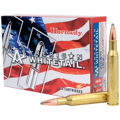 Hornady American Whitetail 270 Win, 130 gr, SP InterLock Ammunition