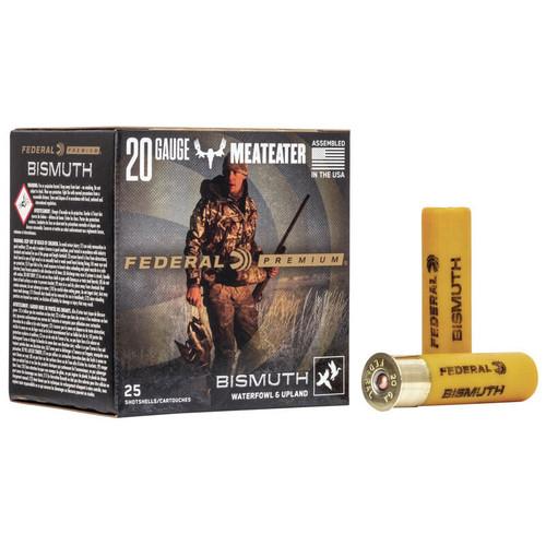 """Federal Bismuth Ammunition - 20 Gauge, 3"""", #4 Shot, 1-1/8 oz, 25 Rounds"""