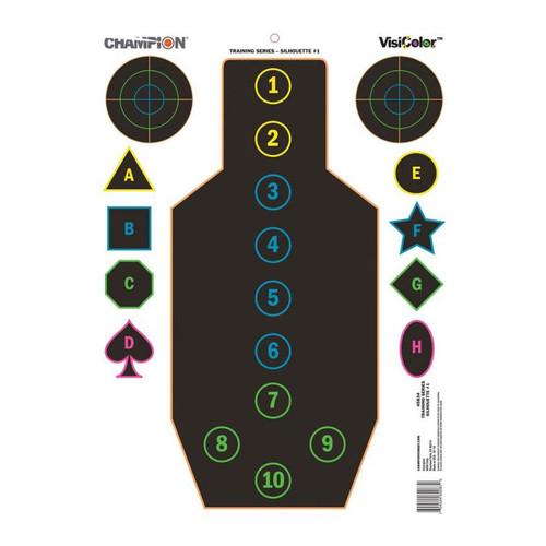 Champion VisiColor Training Silhouette Target