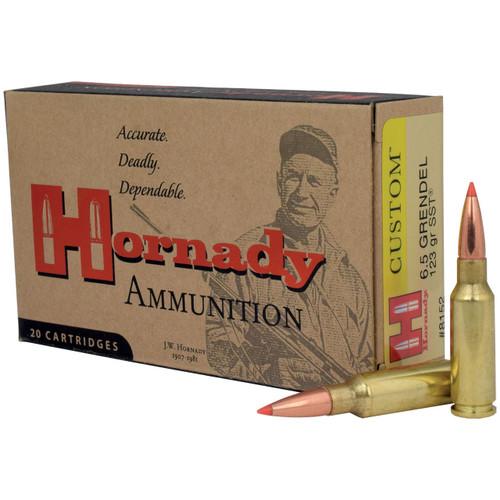 Hornady Custom 6.5 Grendel, 123 gr, SST Ammunition