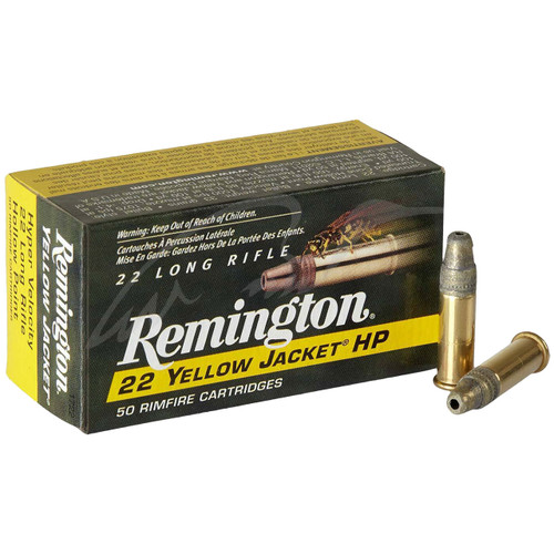 Remington 22 Yellow Jacket 22 LR, 33 gr, Plated Truncated Cone HP Rimfire Ammunition