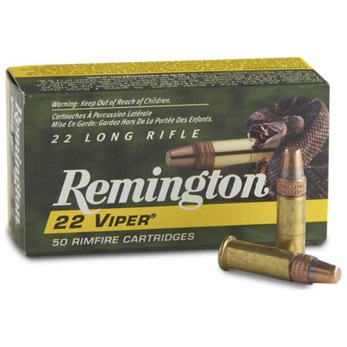 Remington 22 Viper 22 LR, 36 gr, Plated Truncated Cone Solid Rimfire Ammunition