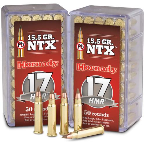Hornady Varmint Express Rimfire 17 HMR, 15.5 gr, NTX Rimfire Ammunition