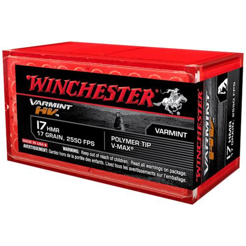 Winchester Varmint HV 17 HMR, 17 gr, Polymer Tip V-Max Ammunition