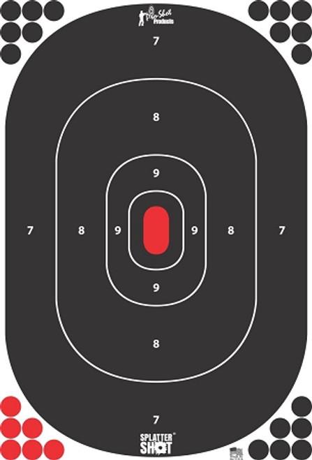 "Pro-Shot Products SplatterShot Silhouette Target - 12""x17"""
