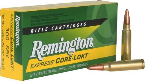 Remington CORE-LOKT Ammunition - 300 Savage, 150 gr, PSP, 20 Rounds